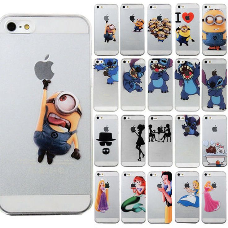 Details about For iPhone Xs Max 7 8 Plus Disney Cartoon Characters Transparent Back Case Cover