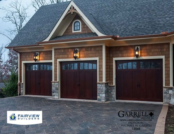 3 car attached garage house plans