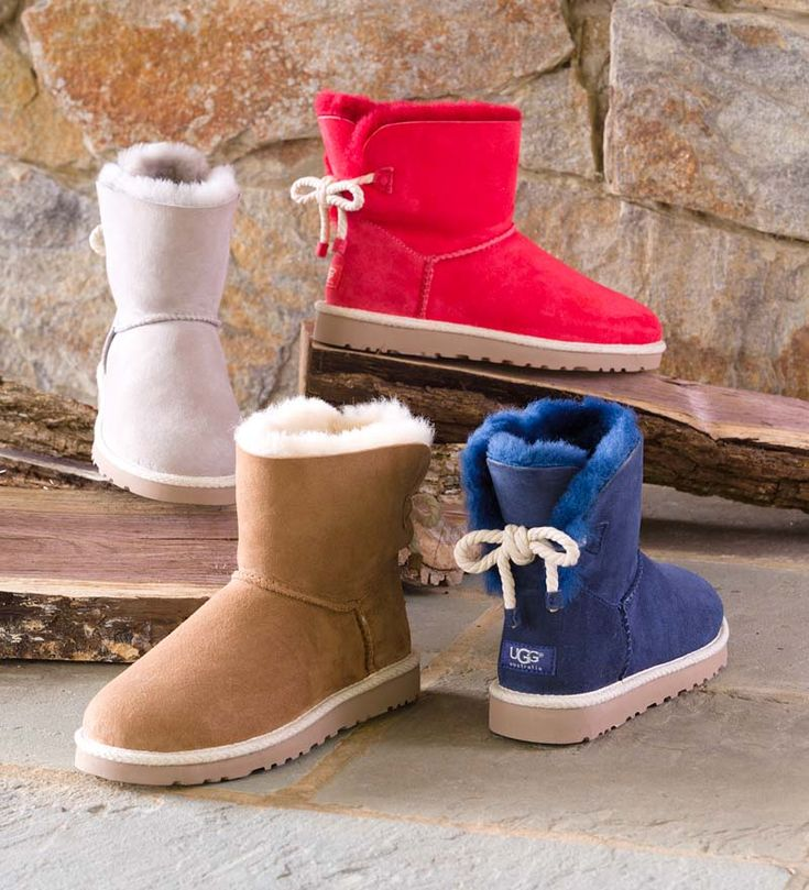 UGG® Australia Selene Boots give a nod to nautical style with a rope back bow.