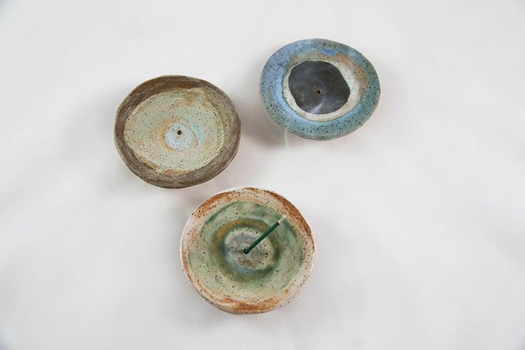 Handmade ceramic Japanese incense holders by Brooklyn based artist, Shino Takeda.  Each is Perfectly imperfect and completely one of a kind.Please note that standard incense will not fit into these holders, only Japanese incense.