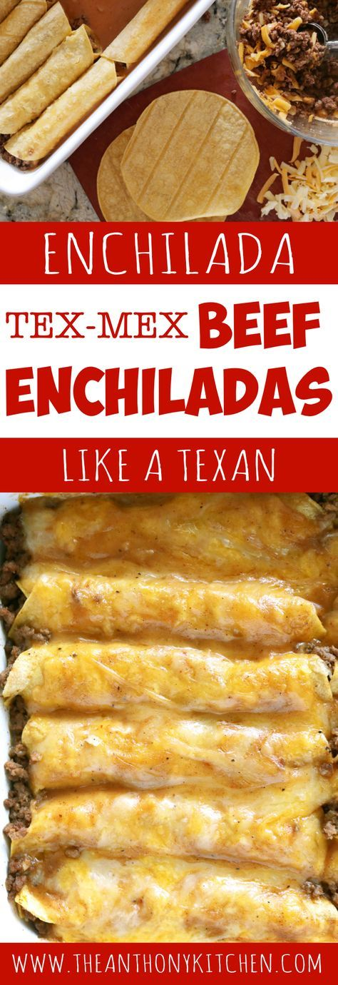 Beef Enchilada Recipe| The only recipe you'll ever need for authentic Tex-Mex beef enchiladas. Featuring ground beef enchiladas, a homemade beef gravy, and a freshly grated cheese blend | #enchiladas #groundbeefrecipe #texmex #mexicanfood #familydinner #enchiladacasserole