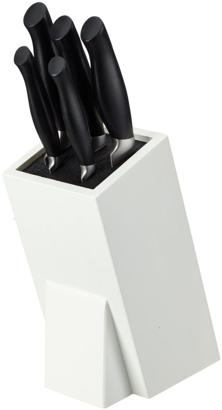€45,95 Pradel Jean Dubost 18053, Ceppo Crazy in legno laccato Bianco con 5 coltelli da cucina: Amazon.it: Casa e cucina
