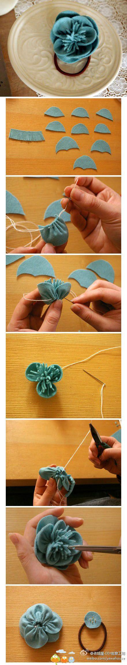 gumička do vlásků - květinka