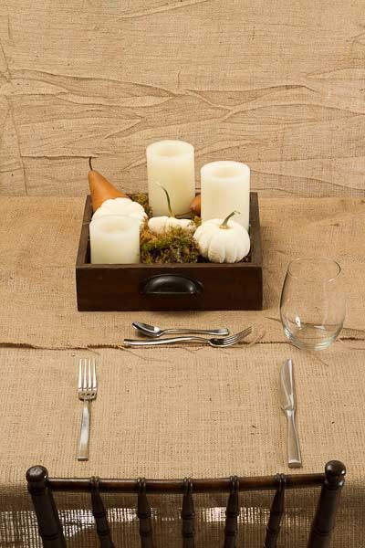Thanksgiving Table Setting - Step 3 We kept it simple and paired everyday cutlery with a stemless wine glass. These glasses are always great to have on-hand because they can be used for everyone from kids to adults, for wine or pop, or to serve ice cream and desserts too.