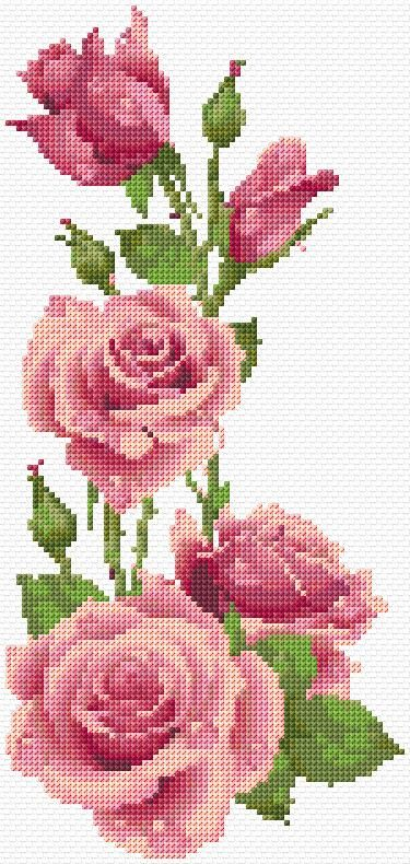 Cross Stitch | Roses xstitch Chart | Design