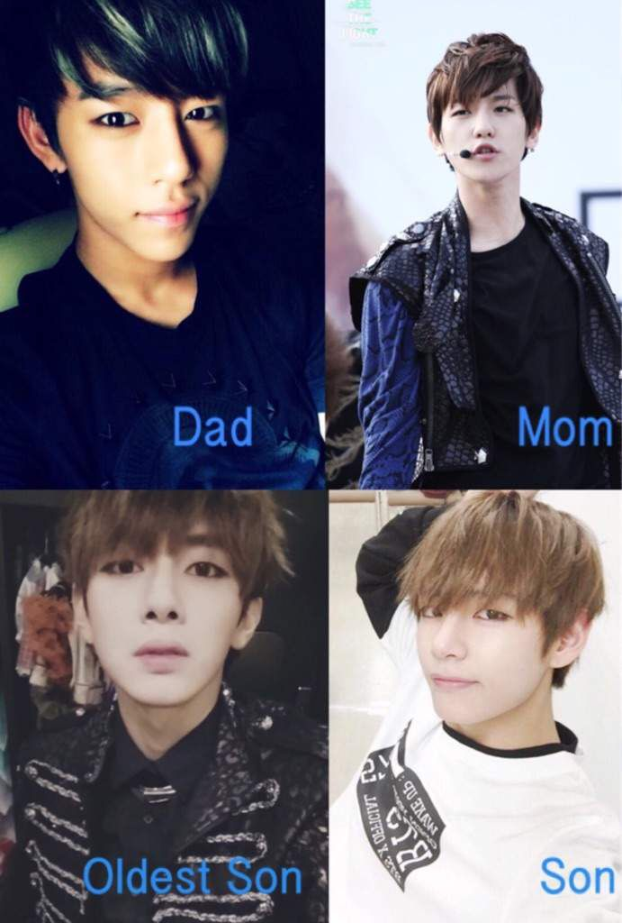 Daehyun, baekhyun, sung ho & V Daehyun, Baekdaetaebamsung Family, Kpop ...