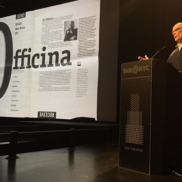 "Erik Spiekermann at ""Type Over Time"" #type #letters"