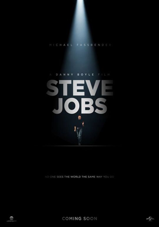 One of the films I'm most excited about this year: Steve Jobs. Not because of the person himself (I'm not a big Apple fan), but because of the combination Danny Boyle-Aaron Sorkin-Michael Fassbender. Love all three of them.