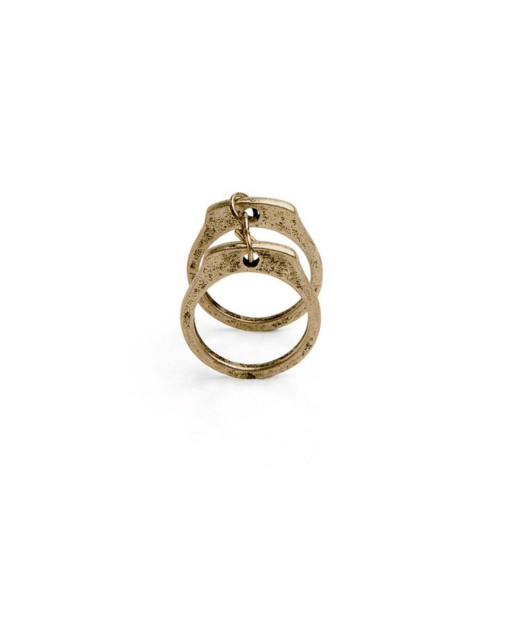 """Great Escape"" Handcuff Gold Rings"