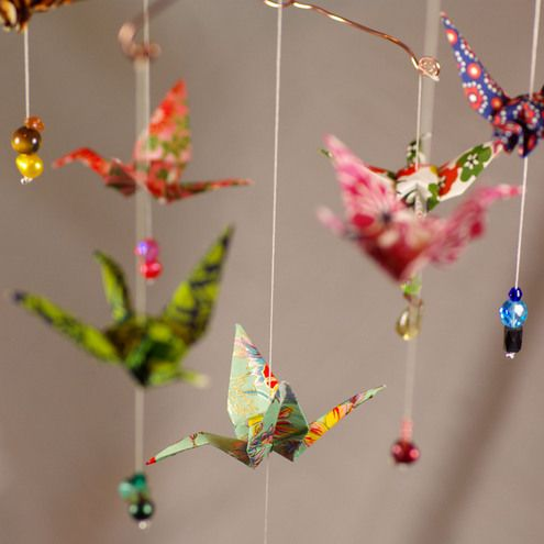Origami: mobile oiseaux. LOVE IT !