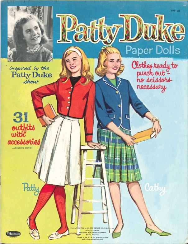 The Patty Duke Show Paper Dolls (1964). You will be missed, lovely Patty.