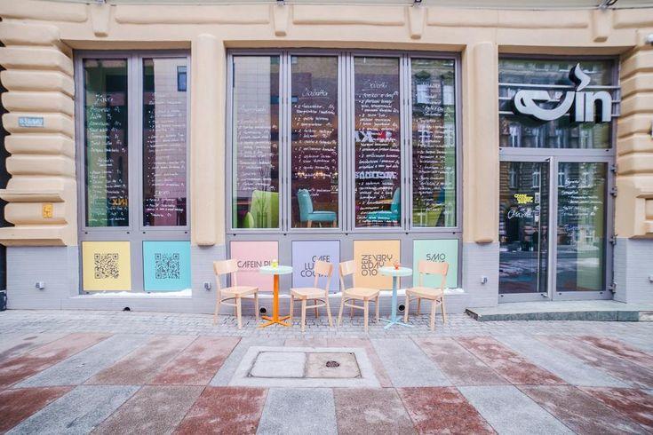 Богемная атмосфера и ретро-стиль в красочном интерьере бистро Cafein в Щецине