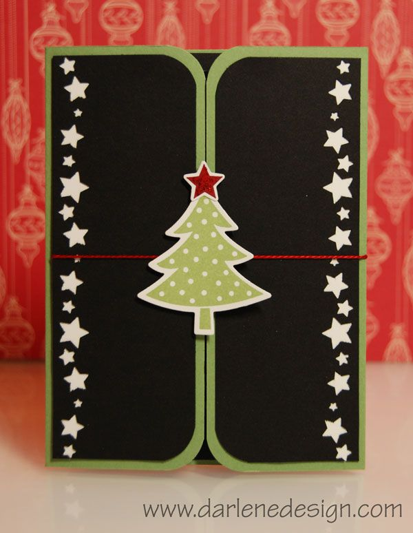 Holiday card opens to a photo inside. Video tutorial!