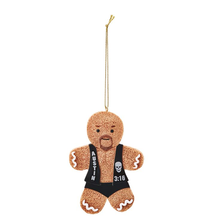 No matter where you hang it, this Gingerbread Man Ornament will show your support for your favorite WWE Superstar this Holiday season!   Features official Superstar logo and colors Measures approximately 2.5