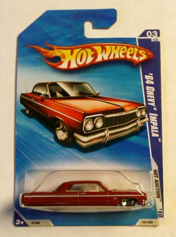 Hot Wheels 2010 Hot Auction 64 Chevy Impala 3 10 Red