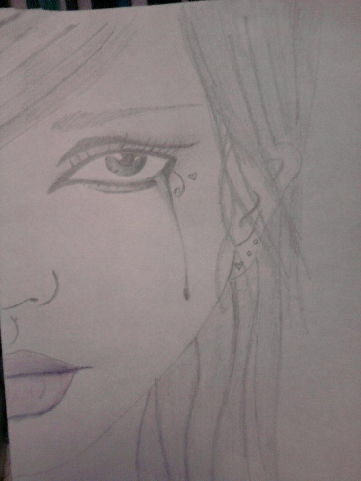 drawings of girl crying - Google Search   Crying girl ...