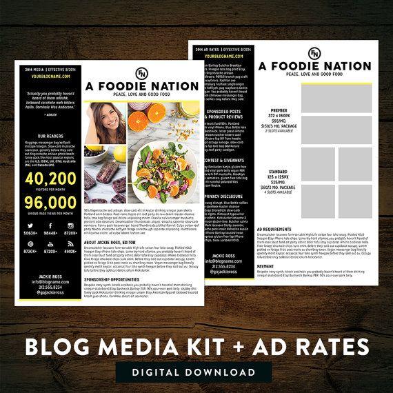 Blog Media Kit Ad Rate Sheet by TheNativeNewYawker on Etsy