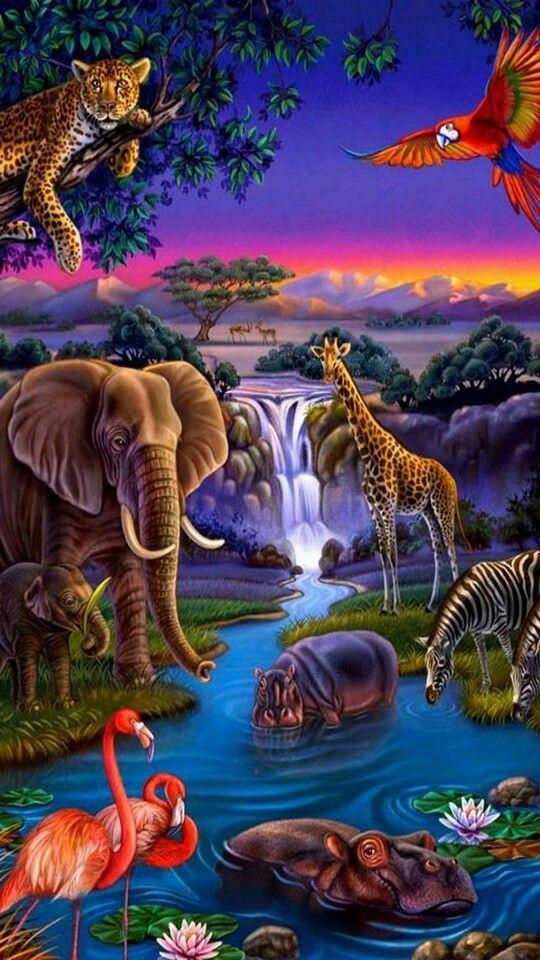 Pin By Abdulahad On Random Images Animal Paintings Animals Beautiful Wildlife Art