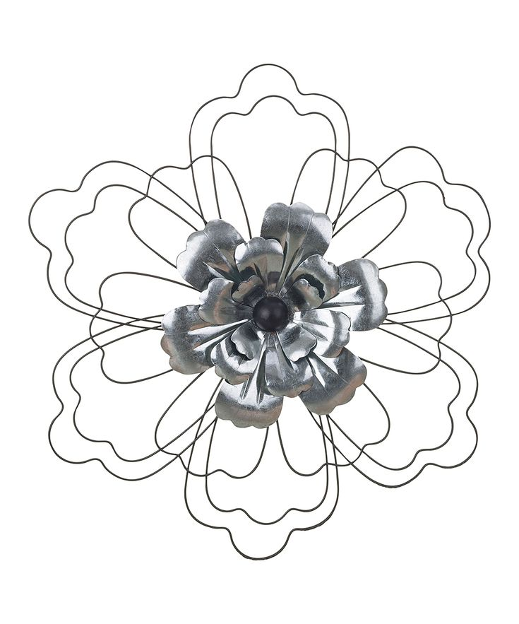 Galvanized Metal Flower Wall Art