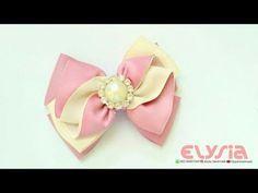 DIY Satin Ribbon Bow - Butterfly Bow by Elysia Handmade - YouTube