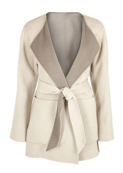 Oatmeal reversible wool blend jacket - New In