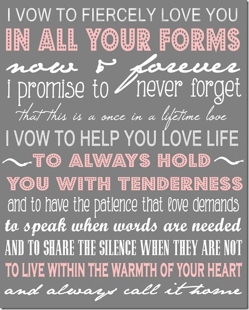 """The vows from """"The Vow"""" printable. The night Zachary took me to see this was the night I knew I was falling in love with him."""