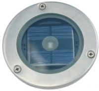 Solar Silver Round Decking Light IP44 Rated (3 Watt Alternative)