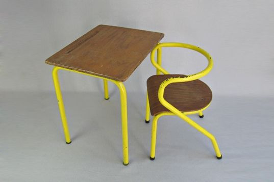School desk and chair Mullca 300  Marcel Gascoin/Jacques Hitier 1950's