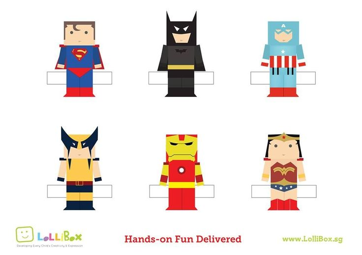 Superhero Printable Paper Craft Pinterest Superhero