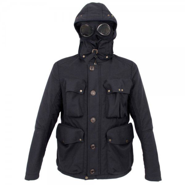 CP Company, Navy, Woven Field Goggle Coat | Jackets