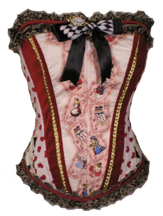 alice in wonderland corset - @Kristin Huston must see this