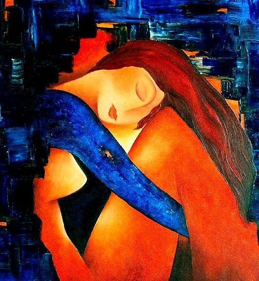 Blue Night by Anita Burnaz (©2007 artmajeur.com/anitab)
