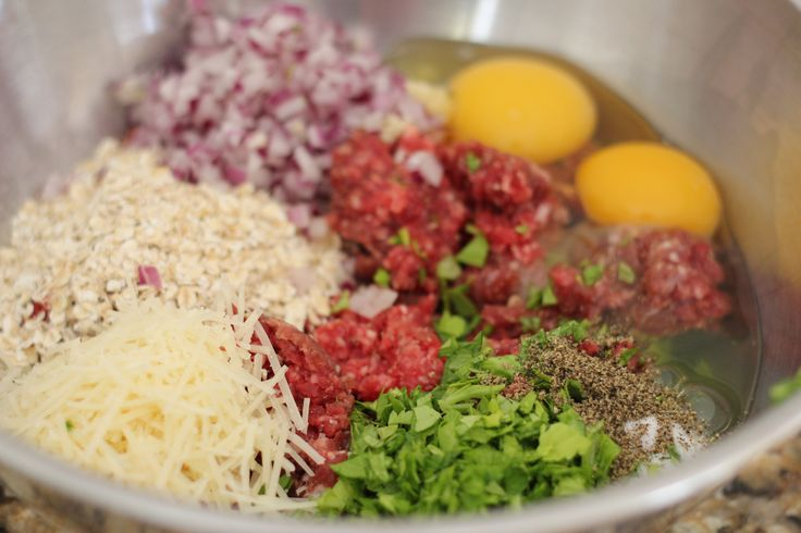 ingredients for the Meatzza Pizza