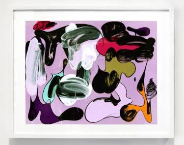 "Saatchi Art Artist Ryan Coleman; Painting, ""Cel Painting (Shapes, Violet)"" #art"