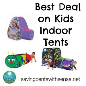 Best Deal on Kids Indoor Tents - Saving Cents With Sense - Great deals on Kids Playhouses