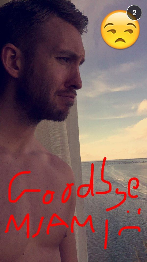 """Pin for Later: 80+ Celebrities You Should Be Following on Snapchat Calvin Harris: calvinharris What he snaps: Trips to Whole Foods, shirtless selfies, and songs like Kanye West's """"All Day."""""""