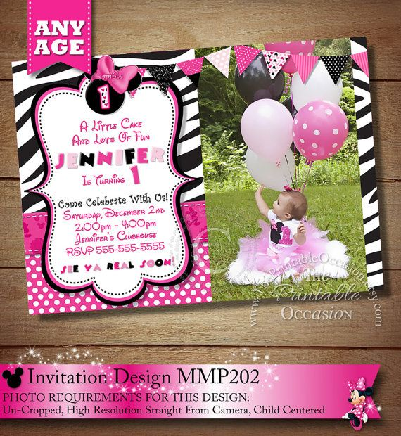 48 Best Images About Zebra Minnie Mouse Invitations