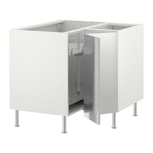 FAKTUM Corner Base Cabinet With Carousel   Right Hand/Rubrik Stainless  Steel   IKEA