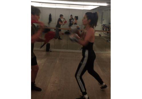 L'entraînement de boxe de Lily Aldridge