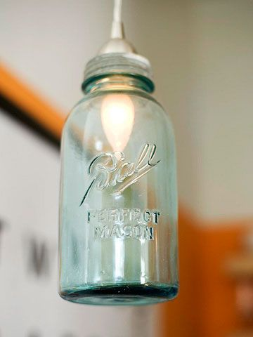 I have this exact jar. Might be too big to look good, but I love the concept, especially with the blue glass.