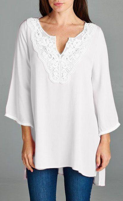 Margaret Tunic in Soft White
