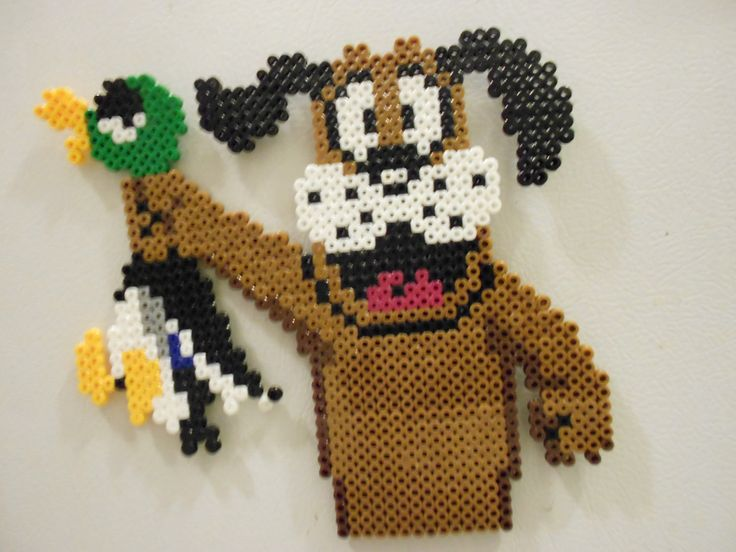 Duck hunt dog and duck bead sprite magnet