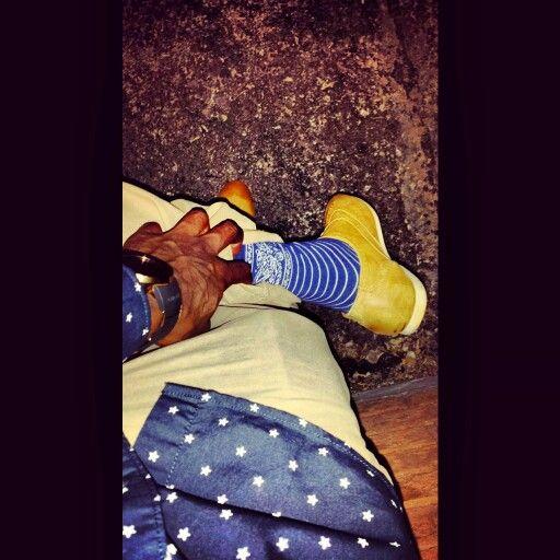 Stars Gold blue crip Bandanna socks wingtips tattoos