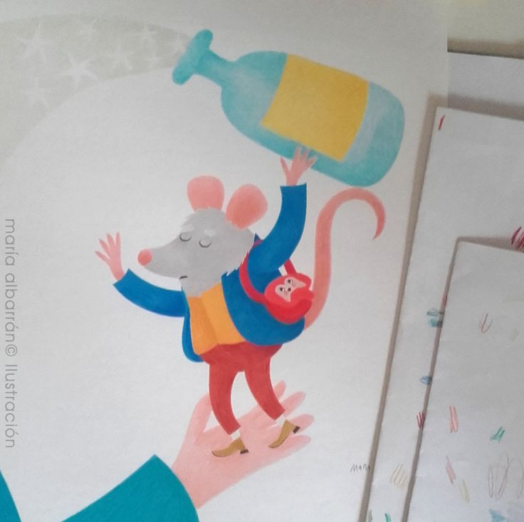 Magia Mágica! / Hocus Pocus!  #workinprogress // María Albarrán Illustration© --- #illustration #coloredpencils #ilustración #RatónPérez #ratoncito #littlemouse #fairytale #magia #magician #hocuspocus