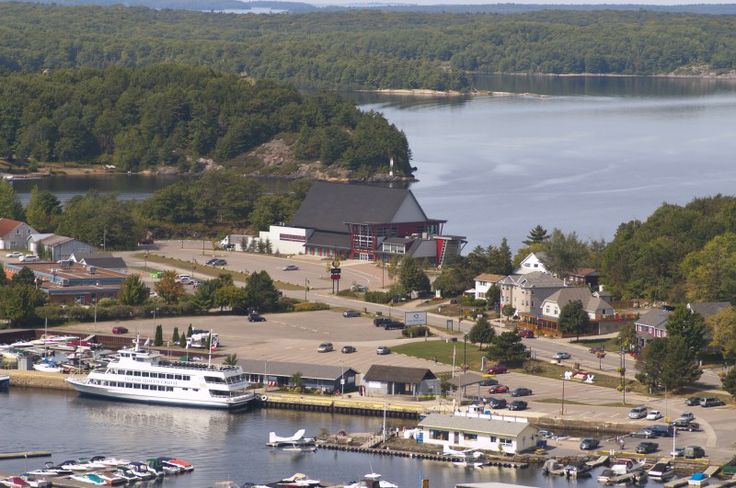 The Charles W. Stockey Centre, located On Bay Street on the Waterfront of Parry Sound, ON.