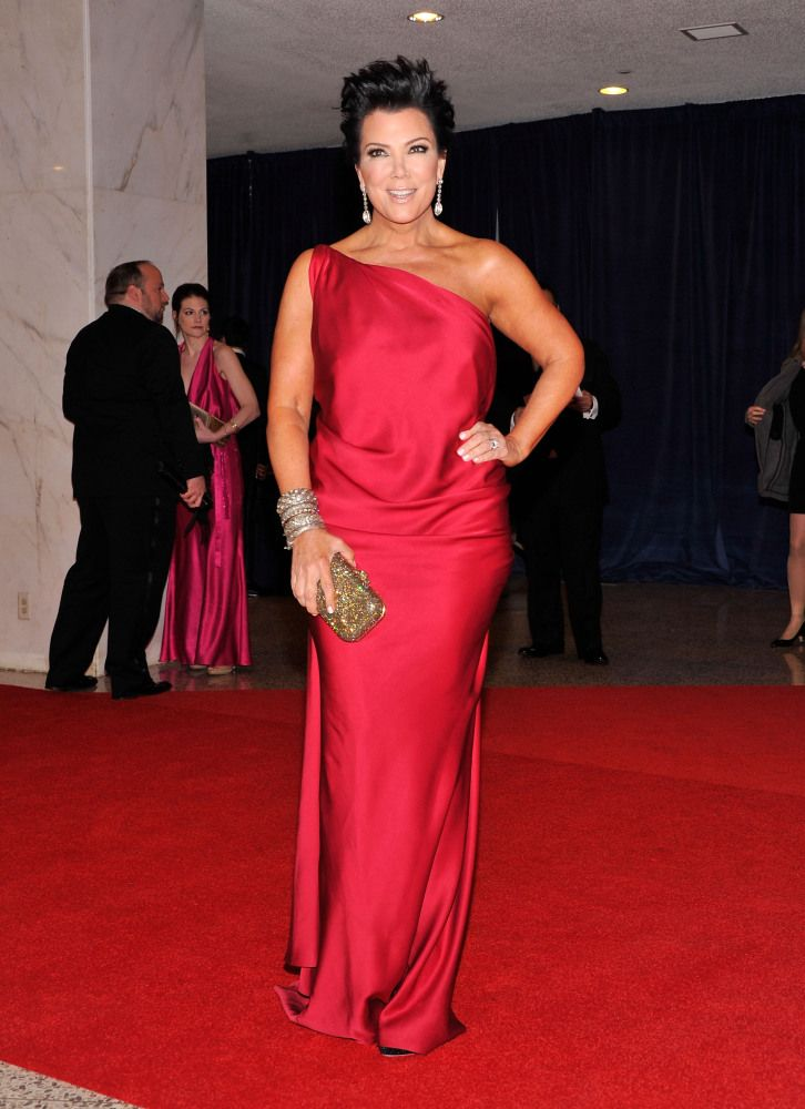 Kris Jenner (56) at the White House Press Dinner 2012. See more outfits modeled by Women over 45: http://stillblondeafteralltheseyears.com/category/outfits-modeled-women-over-45/