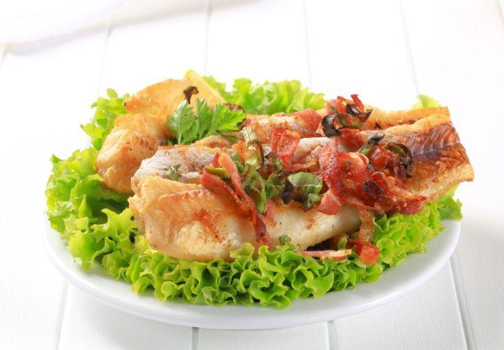 Ryba so slaninou