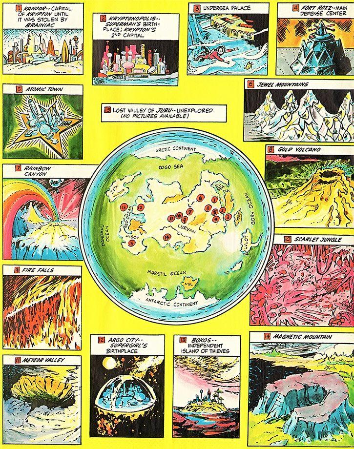 Dc Comics World Map : comics, world, Pre-Crisis, Krypton, Comics, Superman, Superman,, Science, Fiction
