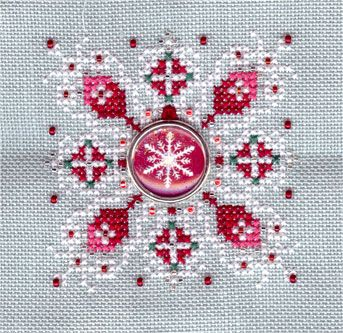 Truly rare Just Nan design. Candy Cane Snowflake.