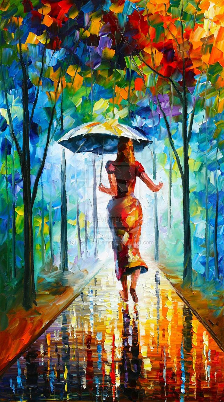 running towards love painting by leonid afremove